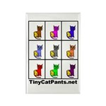 Tiny Cat Pants Rectangle Magnet