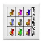 Tiny Cat Pants Tile Coaster