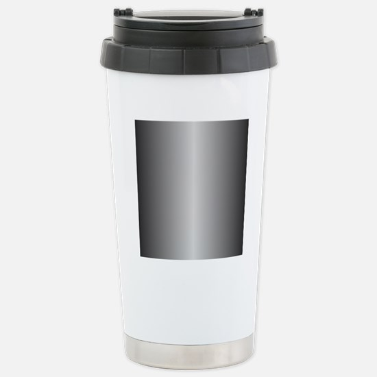 Grey Metallic Shiny Stainless Steel Travel Mug