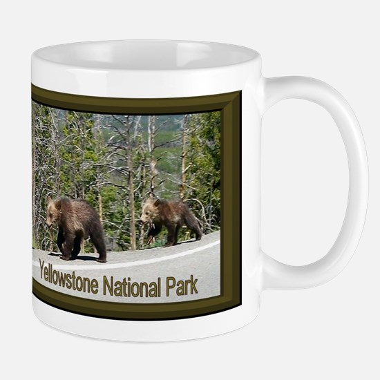Bears in Yellowstone Park Mama and Baby Mug