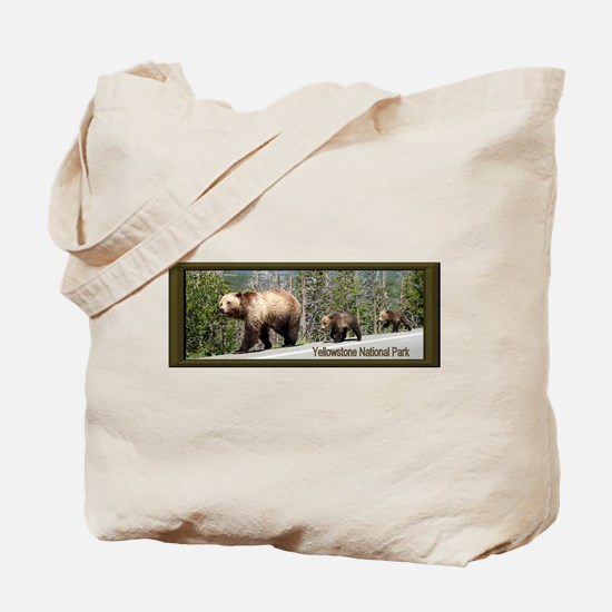 Bears in Yellowstone Park Mama and Baby G Tote Bag