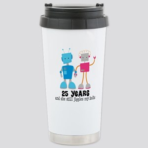 25 Year Anniversary Robot Couple Stainless Steel T