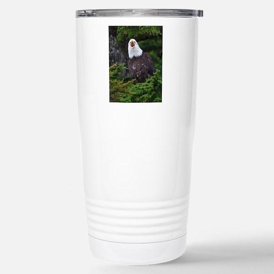 Bald Eagle Stainless Steel Travel Mug