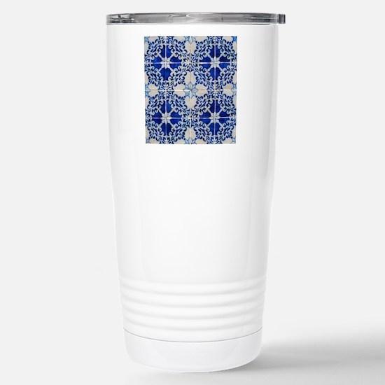 Portuguese Azulejos Stainless Steel Travel Mug