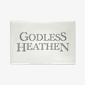 Godless Heathen Rectangle Magnet
