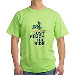 The Secret of Life Snowmobiler Green T-Shirt