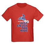 The Secret of Life Snowmobiler Kids Dark T-Shirt