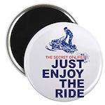 The Secret of Life Snowmobiler Magnet