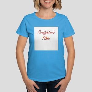 Firefighter Wife or Girlfrien Women's Dark T-Shirt