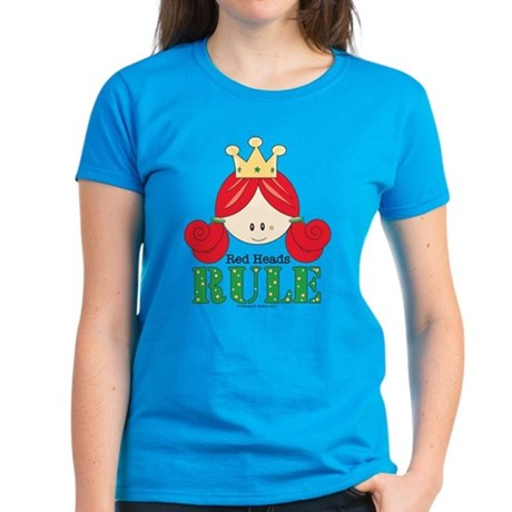 Red Heads Rule Carribean Blue T-Shirt