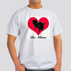 A Black Pomeranian Valentine Light T-Shirt