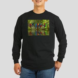 Perching Parrots Long Sleeve T-Shirt