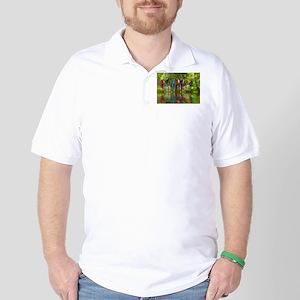 Perching Parrots Golf Shirt