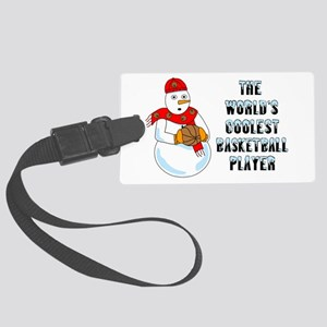 World's Coolest Basketball Player Luggage Tag