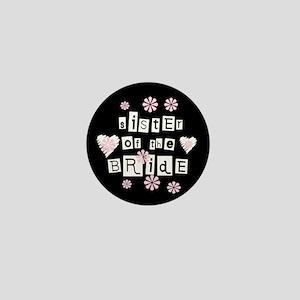 Sister of Bride (black) Mini Button