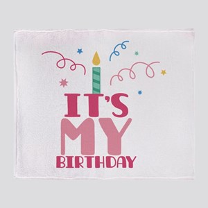Its My Birthday Throw Blanket