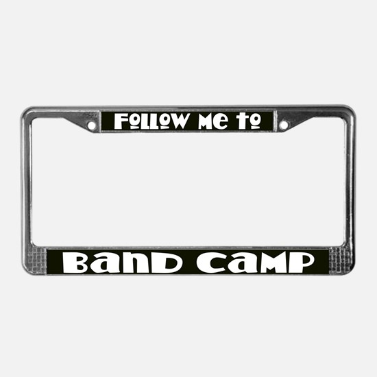 Marching Band Camp License Plate Frame
