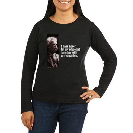 "Twain ""Schooling"" Women's Long Sleeve Dark T-Shirt"