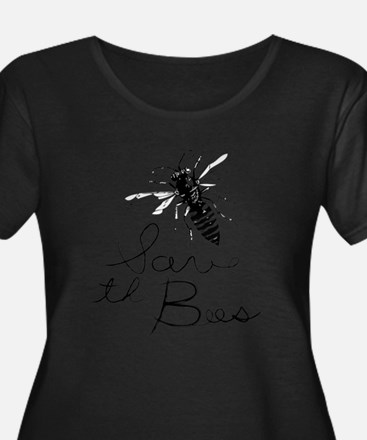 Save the Bees Plus Size T-Shirt