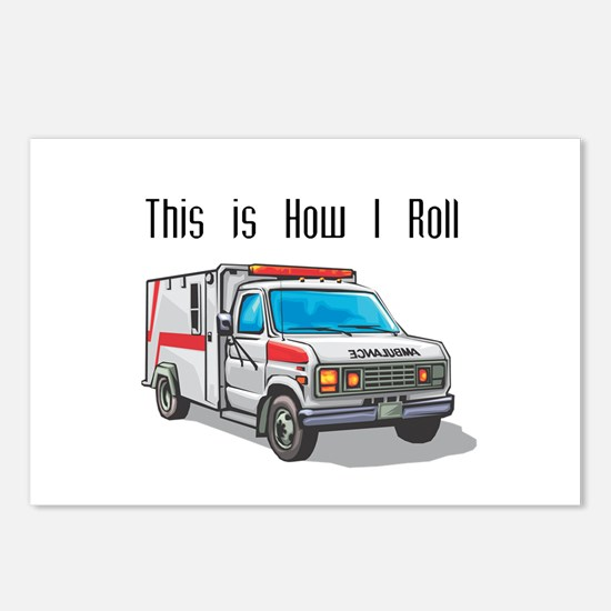 How I Roll (Ambulance) Postcards (Package of 8)