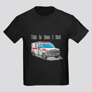 How I Roll (Ambulance) Kids Dark T-Shirt