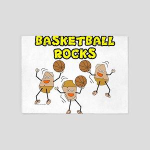 Basketball Rocks 5'x7'Area Rug