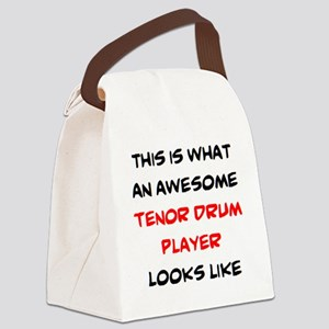 awesome tenor drum player Canvas Lunch Bag