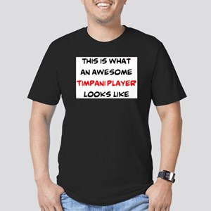 awesome timpani player Men's Fitted T-Shirt (dark)