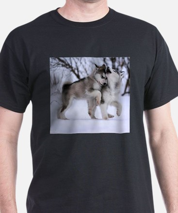 Wolves Playing T-Shirt