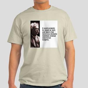"""Twain """"Criminal Class"""" Light T-Shirt"""