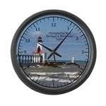 Michigan City East Pierhead & Large Wall Clock