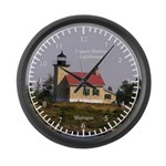 Copper Harbor Lighthouse Large Wall Clock