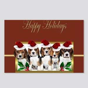 Holiday Beagles Postcards (Package of 8)