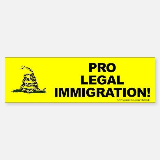 Tea Party Pro Immigration, (bumper) Bumper Bumper Bumper Sticker