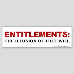 Illusion Of Free Will, (bumper) Bumper Sticker