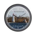 Main Duck Island Light Wall Clock