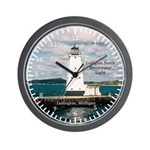 Ludington North Breakwater Light Wall Clock