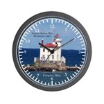 Fairport Harbor West Breakwater Light Wall Clock