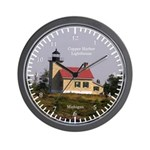 Copper Harbor Lighthouse Wall Clock