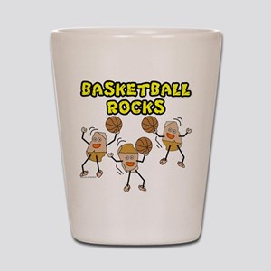 Basketball Rocks Shot Glass