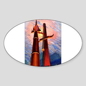 Rocket & Tower Sticker
