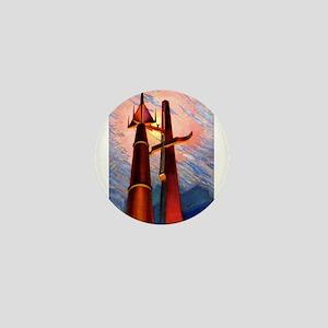 Rocket & Tower Mini Button