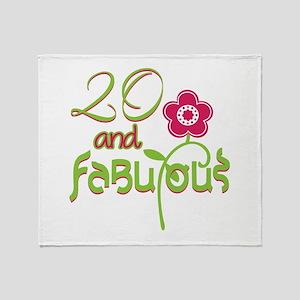20th Bithday - 20 and Fabulous Throw Blanket