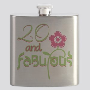 20th Bithday - 20 and Fabulous Flask
