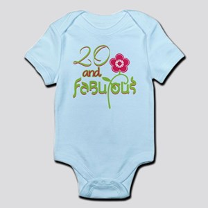20th Bithday - 20 and Fabulous Body Suit