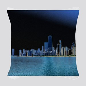Diffuse Glow Chicago Woven Throw Pillow