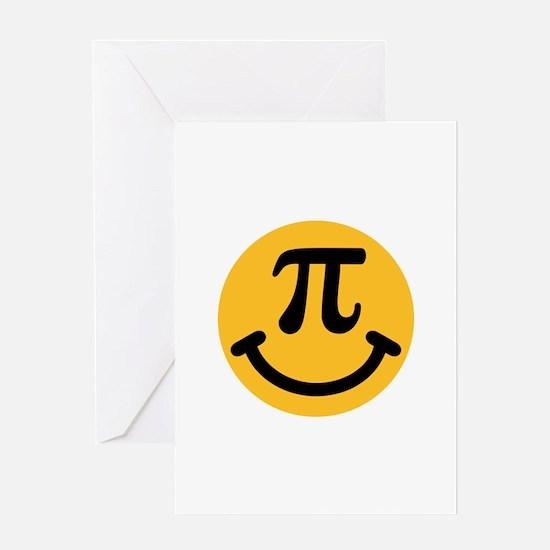 Pi Smiley Greeting Card