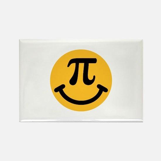 Pi Smiley Rectangle Magnet