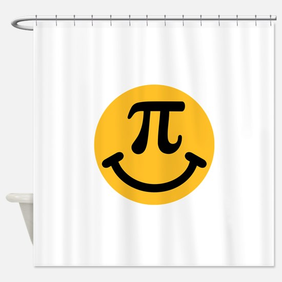 Pi Smiley Shower Curtain