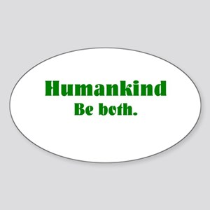 Human Kind Oval Sticker